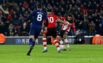 SOUTHAMPTON, ENGLAND - JANUARY 25: Sofiane Boufal of Southampton shoots to score and make it 1-1 during the FA Cup Fourth Round match between Southampton FC and Tottenham Hotspur at St. Mary's Stadium on January 25, 2020 in Southampton, England. (Photo by Matt Watson/Southampton FC via Getty Images)