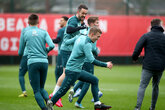 Gallery: Limbering up for Liverpool