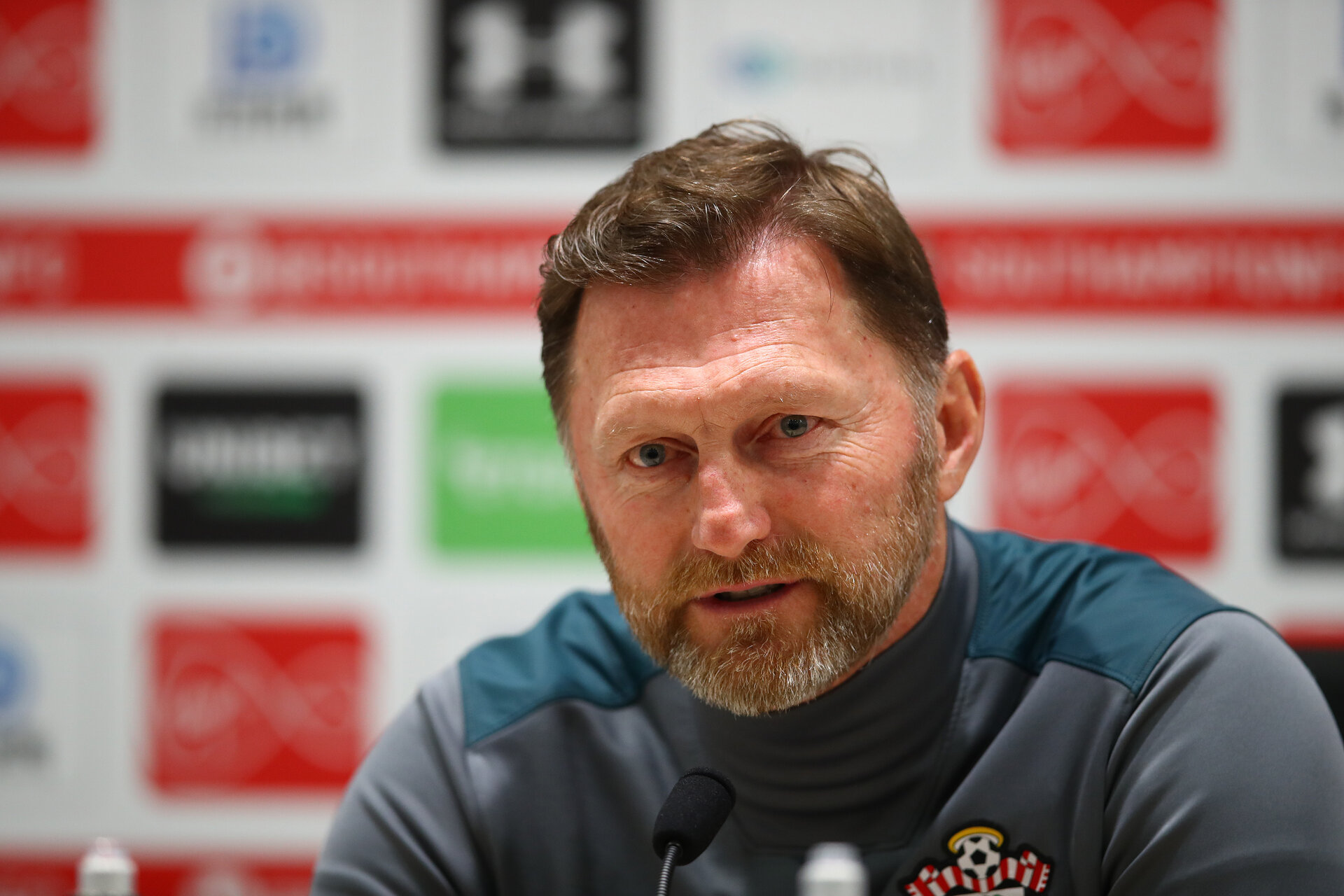SOUTHAMPTON, ENGLAND - JANUARY 30: Manager Ralph Hasenhuttl during a Southampton FC press conference at the Staplewood Campus on January 30, 2020 in Southampton, England. (Photo by Matt Watson/Southampton FC via Getty Images)