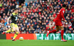 LIVERPOOL, ENGLAND - FEBRUARY 01: Pierre-Emile Højbjerg of Southampton during the Premier League match between Liverpool FC and Southampton FC at Anfield on February 01, 2020 in Liverpool, United Kingdom. (Photo by Matt Watson/Southampton FC via Getty Images)