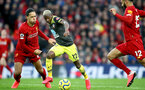 LIVERPOOL, ENGLAND - FEBRUARY 01: Virgil Van Dijk(L) of Liverpool and Moussa Djenepo of Southampton during the Premier League match between Liverpool FC and Southampton FC at Anfield on February 01, 2020 in Liverpool, United Kingdom. (Photo by Matt Watson/Southampton FC via Getty Images)