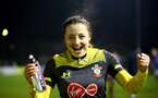 PORTSMOUTH, ENGLAND - FEBRUARY 05: Kirsty Whitton during the National League Cup quarter-final game between Portsmouth and Southampton Women at Privett Park Stadium on February 05, 2020 in Portsmouth, England. (Photo by Isabelle Field/Southampton FC via Getty Images)