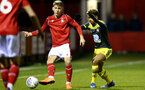 NOTTINGHAM, ENGLAND - FEBRUARY 07: Enzo Robise during the Premier League Cup between Nottingham Forest and Southampton U23 at Impact Arena Stadium on February 07, 2020 in Nottingham, England. (Photo by Isabelle Field/Southampton FC via Getty Images)