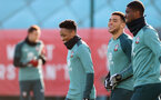 SOUTHAMPTON, ENGLAND - FEBRUARY 04: L to R Kyle Walker-Peters, Ché Adams and Kevin Danso during a Southampton FC training session at the Staplewood Campus on February 04, 2020 in Southampton, England. (Photo by Matt Watson/Southampton FC via Getty Images)