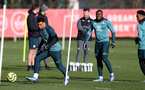 SOUTHAMPTON, ENGLAND - FEBRUARY 04: Ché Adams(L) during a Southampton FC training session at the Staplewood Campus on February 04, 2020 in Southampton, England. (Photo by Matt Watson/Southampton FC via Getty Images)