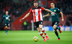 SOUTHAMPTON, ENGLAND - FEBRUARY 15: Jack Stephens of Southampton during the Premier League match between Southampton FC and Burnley FC at St Mary's Stadium on February 15, 2020 in Southampton, United Kingdom. (Photo by Matt Watson/Southampton FC via Getty Images)