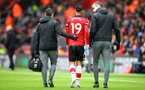 SOUTHAMPTON, ENGLAND - FEBRUARY 15: Sofiane Boufal of Southampton leaves the itch with an injury during the Premier League match between Southampton FC and Burnley FC at St Mary's Stadium on February 15, 2020 in Southampton, United Kingdom. (Photo by Matt Watson/Southampton FC via Getty Images)