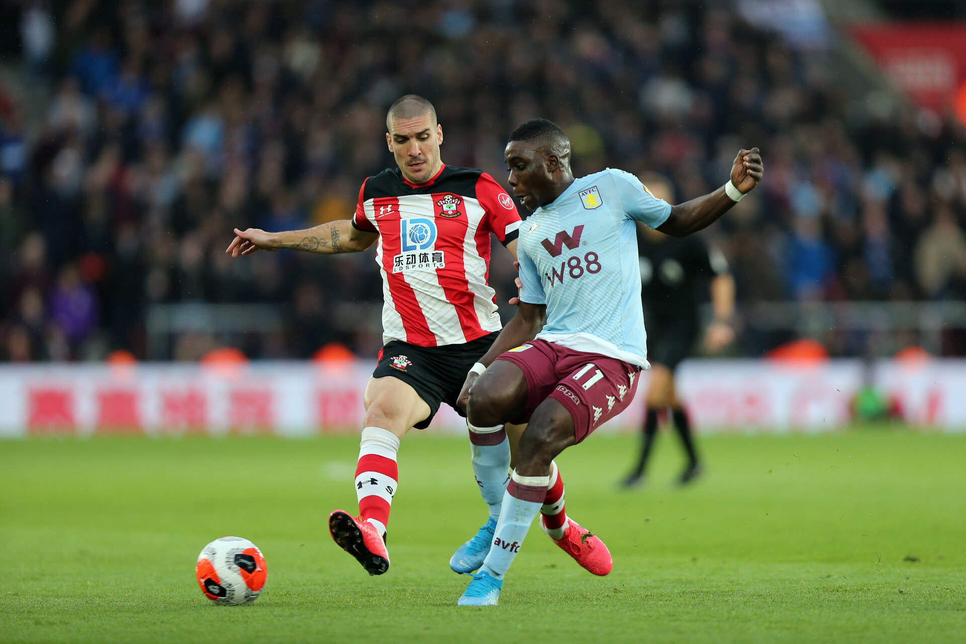 SOUTHAMPTON, ENGLAND - FEBRUARY 22: Oriol Romeu during the Premier League match between Southampton FC and Aston Villa at St Mary's Stadium on February 22, 2020 in Southampton, United Kingdom. (Photo by Chris Moorhouse/Southampton FC via Getty Images)