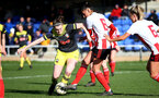 SUNDERLAND, ENGLAND - February 23: Ella Pusey during the FAWNL semi-final at The Eppleton Colliery Welfare Ground between Sunderland and Southampton Women on February 23 2020, Sunderland, England. (Photo by Isabelle Field/Southampton FC via Getty Images)