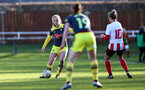 SUNDERLAND, ENGLAND - February 23: Rosie Pandell during the FAWNL semi-final at The Eppleton Colliery Welfare Ground between Sunderland and Southampton Women on February 23 2020, Sunderland, England. (Photo by Isabelle Field/Southampton FC via Getty Images)