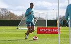 SOUTHAMPTON, ENGLAND - FEBRUARY 25: Kevin Danso during a Southampton FC training session at the Staplewood Campus on February 25, 2020 in Southampton, England. (Photo by Matt Watson/Southampton FC via Getty Images)