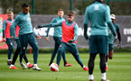 SOUTHAMPTON, ENGLAND - FEBRUARY 25: Yan Valery(L) and Jack Stephens during a Southampton FC training session at the Staplewood Campus on February 25, 2020 in Southampton, England. (Photo by Matt Watson/Southampton FC via Getty Images)