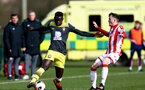 STOKE, ENGLAND - February 25: Pascal Kpohomouh during the Premier League Cup game at Clayton Wood Training Ground between Stoke City and Southampton U23 on February 25 2020, Stoke, England. (Photo by Isabelle Field/Southampton FC via Getty Images)