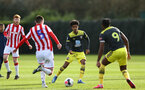 STOKE, ENGLAND - February 25: Jacob Maddox during the Premier League Cup game at Clayton Wood Training Ground between Stoke City and Southampton U23 on February 25 2020, Stoke, England. (Photo by Isabelle Field/Southampton FC via Getty Images)