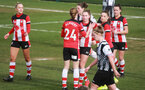 SOUTHAMPTON, ENGLAND - March 1: Southampton FC Women's players celebrate after Alisha Ware of Southampton FC Womens (C) scores her first goal during the FA Women's National League match between Southampton Women and Maidenhead United at Staplewood Campus on March 1 2020, Exeter, England. (Photo by Tom Mulholland/Southampton FC)