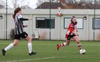 SOUTHAMPTON, ENGLAND - March 1: Alisha Ware of Southampton FC Womens during the FA Women's National League match between Southampton Women and Maidenhead United at Staplewood Campus on March 1 2020, Exeter, England. (Photo by Tom Mulholland/Southampton FC)