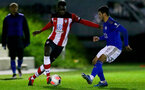 SOUTHAMPTON, ENGLAND - MARCH 02: Pascal Kpohomouh during PL2 match between Southampton and Leicester City at Staplewood Training Center on March 02 2020 in Southampton England (Photo by Isabelle Field/Southampton FC via Getty Images)