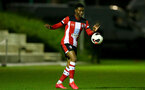SOUTHAMPTON, ENGLAND - MARCH 02: Nathan Tella during PL2 match between Southampton and Leicester City at Staplewood Training Center on March 02 2020 in Southampton England (Photo by Isabelle Field/Southampton FC via Getty Images)