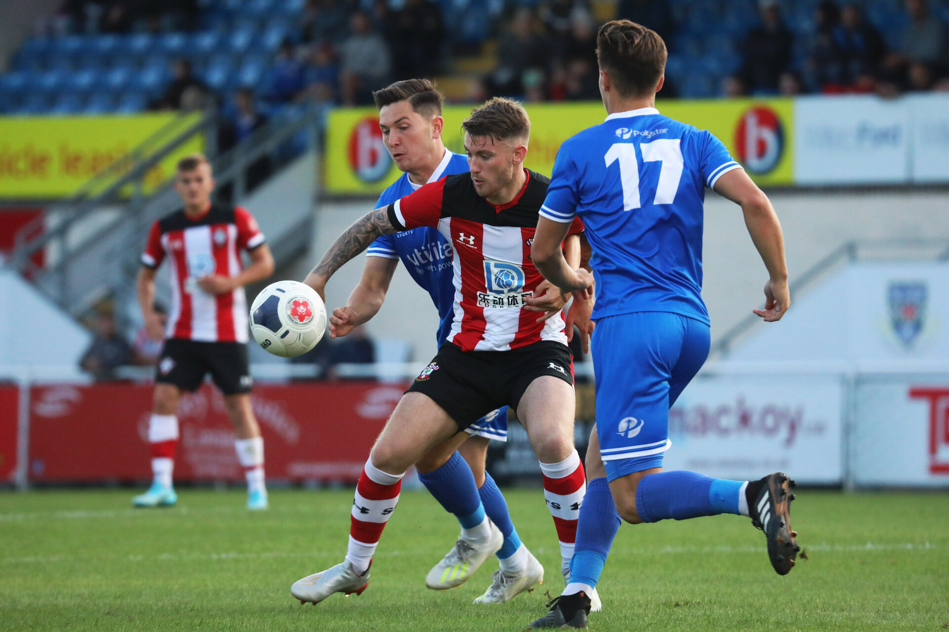 EASTLEIGH, ENGLAND, JULY 30: Callum Slattery of Southampton FC during the pre-season friendly match between Eastleigh FC and Southampton U23s at Silverlake Stadium, Eastleigh, on Tuesday 30th July, 2019