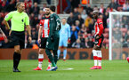 SOUTHAMPTON, ENGLAND - MARCH 07: Moussa Djenepo of Southampton after being shown a red card during the Premier League match between Southampton FC and Newcastle United at St Mary's Stadium on March 07, 2020 in Southampton, United Kingdom. (Photo by Matt Watson/Southampton FC via Getty Images)