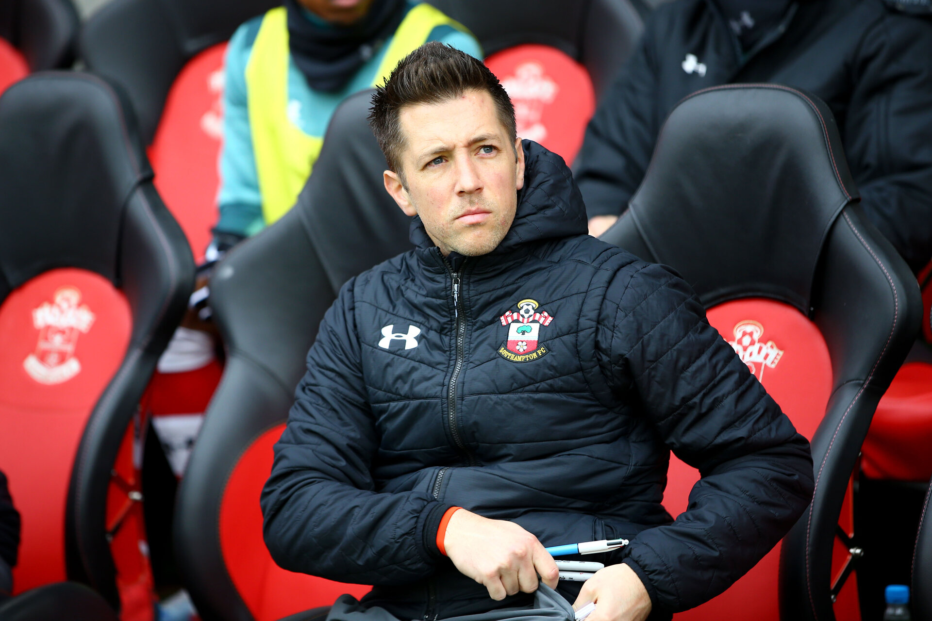 SOUTHAMPTON, ENGLAND - MARCH 07: Andrew Sparkes during the Premier League match between Southampton FC and Newcastle United at St Mary's Stadium on March 7, 2020 in Southampton, United Kingdom. (Photo by Isabelle Field/Southampton FC via Getty Images)