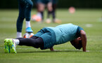 SOUTHAMPTON, ENGLAND - JUNE 17: Kyle Walker-Peters does press ups during a Southampton FC training session at the Staplewood Campus on June 17, 2020 in Southampton, England. (Photo by Matt Watson/Southampton FC via Getty Images)