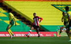NORWICH, ENGLAND - JUNE 19: Yan Valery during the Premier League match between Norwich City and Southampton FC at Carrow Road on June 19, 2020 in Norwich, United Kingdom. (Photo by Matt Watson/Southampton FC via Getty Images)