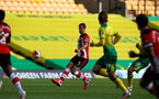 NORWICH, ENGLAND - JUNE 19: Jack Stephens during the Premier League match between Norwich City and Southampton FC at Carrow Road on June 19, 2020 in Norwich, United Kingdom. (Photo by Matt Watson/Southampton FC via Getty Images)