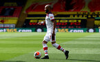 WATFORD, ENGLAND - JUNE 28: Nathan Redmond during the Premier League match between Watford FC and Southampton FC at Vicarage Road on April 4, 2020 in Watford, United Kingdom. (Photo by Matt Watson/Southampton FC via Getty Images)