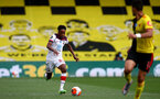 WATFORD, ENGLAND - JUNE 28: Kyle Walker-Peters during the Premier League match between Watford FC and Southampton FC at Vicarage Road on April 4, 2020 in Watford, United Kingdom. (Photo by Matt Watson/Southampton FC via Getty Images)