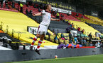 WATFORD, ENGLAND - JUNE 28: James Ward-Prowse goal celebration during the Premier League match between Watford FC and Southampton FC at Vicarage Road on April 4, 2020 in Watford, United Kingdom. (Photo by Matt Watson/Southampton FC via Getty Images)