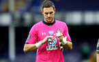 SOUTHAMPTON, ENGLAND - JULY 09: Alex McCarthy during the Premier League match between Everton FC and Southampton FC at Goodison Park on July 9, 2020 in Liverpool, United Kingdom. Football Stadiums around Europe remain empty due to the Coronavirus Pandemic as Government social distancing laws prohibit fans inside venues resulting in games being played behind closed doors. (Photo by Matt Watson/Southampton FC)