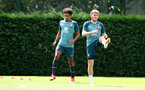 SOUTHAMPTON, ENGLAND - JULY 18: Jacob Maddox(L) and Jake Vokins during a Southampton FC training session at the Staplewood Campus on July 18, 2020 in Southampton, England. (Photo by Matt Watson/Southampton FC via Getty Images)