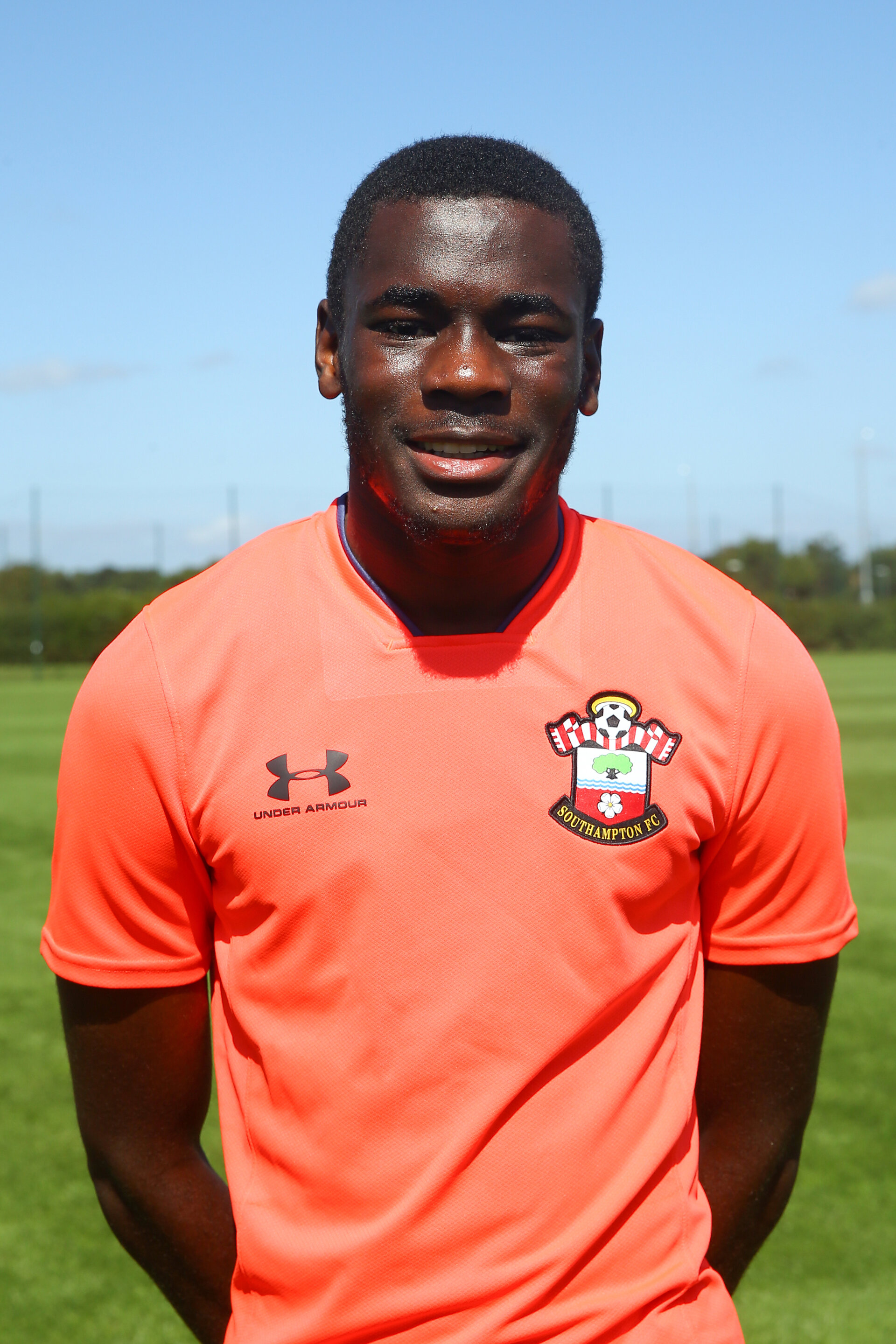 SOUTHAMPTON, ENGLAND - August 20: Lucas Defise who signed his first professional contract at Staplewood Training ground on August 20, 2020 in Southampton, England. (Photo by Isabelle Field/Southampton FC via Getty Images)
