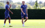 SOUTHAMPTON, ENGLAND - AUGUST 28: Stuart Armstrong(R) during a Southampton FC training session at the Staplewood Campus on August 28, 2020 in Southampton, England. (Photo by Matt Watson/Southampton FC via Getty Images)