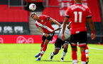 SOUTHAMPTON, ENGLAND - AUGUST 29: Jan Bednarek during a pre-season friendly between Southampton FC and Swansea City at St Marys Stadium, on August 29, 2020 in Southampton, England. (Photo by Matt Watson/Southampton FC via Getty Images)