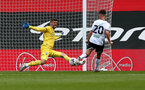 SOUTHAMPTON, ENGLAND - AUGUST 29: Fraser Forster during a pre-season friendly between Southampton FC and Swansea City at St Marys Stadium, on August 29, 2020 in Southampton, England. (Photo by Matt Watson/Southampton FC via Getty Images)