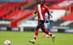 SOUTHAMPTON, ENGLAND - SEPTEMBER 1: Dan N'Lundulu of Southampton during a pre-season friendly match between Southampton U23 and Coventry City at St Mary's Stadium on September 1, 2020 in Southampton, United Kingdom. (Photo by Isabelle Field/Southampton FC)