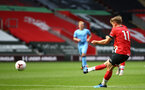 SOUTHAMPTON, ENGLAND - SEPTEMBER 1: Jake Hesketh during a pre-season friendly match between Southampton U23 and Coventry City at St Mary's Stadium on September 1, 2020 in Southampton, United Kingdom. (Photo by Isabelle Field/Southampton FC)