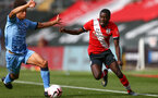 SOUTHAMPTON, ENGLAND - SEPTEMBER 1: Lucas Defise (R) of Southampton during a pre-season friendly match between Southampton U23 and Coventry City at St Mary's Stadium on September 1, 2020 in Southampton, United Kingdom. (Photo by Isabelle Field/Southampton FC)