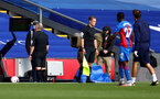 LONDON, ENGLAND - SEPTEMBER 12: Referee Jonathan Moss reviews a decision during the Premier League match between Crystal Palace and Southampton at Selhurst Park on September 12, 2020 in London, United Kingdom. (Photo by Matt Watson/Southampton FC via Getty Images)