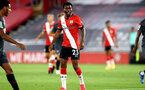 SOUTHAMPTON, ENGLAND - SEPTEMBER 16: Nathan Tella of Southampton during the second round of the Carabao Cup match between Southampton FC and Brentford FC at St. Mary's Stadium on September 16, 2020 in Southampton, England. (Photo by Matt Watson/Southampton FC via Getty Images)