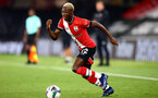 SOUTHAMPTON, ENGLAND - SEPTEMBER 16: Moussa Djenepo of Southampton during the second round of the Carabao Cup match between Southampton FC and Brentford FC at St. Mary's Stadium on September 16, 2020 in Southampton, England. (Photo by Matt Watson/Southampton FC via Getty Images)