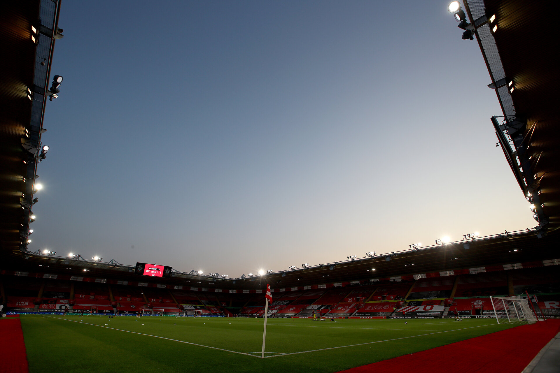 SOUTHAMPTON, ENGLAND - SEPTEMBER 16: A general view ahead of the Carabao Cup 2nd round match between Southampton FC and Brentford FC, at St. Mary's Stadium on September 16, 2020 in Southampton, England. (Photo by Matt Watson/Southampton FC via Getty Images)