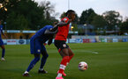 SOUTHAMPTON, ENGLAND - SEPTEMBER 18: Dan N'Lundulu of Southampton during the Premier League 2 match between Southampton FC B Team and Chelsea FC at Snows Stadium on September 18, 2020 in Southampton, England. (Photo by Isabelle Field/Southampton FC via Getty Images)