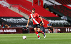 SOUTHAMPTON, ENGLAND - SEPTEMBER 20: Jack Stephens of Southampton during the Premier League match between Southampton and Tottenham Hotspur at St Mary's Stadium on September 20, 2020 in Southampton, United Kingdom. (Photo by Matt Watson/Southampton FC via Getty Imaes)