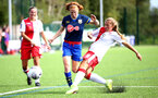 SOUTHAMPTON, ENGLAND - SEPTEMBER 20: Milly Mott (L) of Southampton during the FAWNL match between Southampton Women and Poole Town FC at Specsavers County Ground on September 20, 2020 in Poole, England. (Photo by Isabelle Field/Southampton FC via Getty Images)