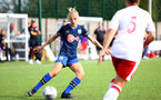 SOUTHAMPTON, ENGLAND - SEPTEMBER 20: Phoebe Williams (L) of Southampton during the FAWNL match between Southampton Women and Poole Town FC at Specsavers County Ground on September 20, 2020 in Poole, England. (Photo by Isabelle Field/Southampton FC via Getty Images)