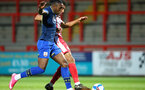STEVENAGE, ENGLAND - SEPTEMBER 22: Dan N'Lundulu of Southampton during the EFL Trophy match between Stevenage FC and Southampton FC B Team  at the Lamex Stadium on September 22, 2020 in Stevenage, England. (Photo by Isabelle Field/Southampton FC via Getty Images)