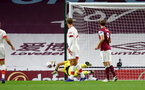 BURNLEY, ENGLAND - SEPTEMBER 26: Alex McCarthy of Southampton making a crucial save during the Premier League match between Burnley and Southampton at Turf Moor on September 26, 2020 in Burnley, United Kingdom. Sporting stadiums around the UK remain under strict restrictions due to the Coronavirus Pandemic as Government social distancing laws prohibit fans inside venues resulting in games being played behind closed doors. (Photo by Matt Watson/Southampton FC via Getty Images)